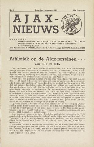 Clubnieuws Ajax (vanaf 1916) 1941-08-02