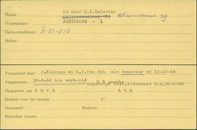 Ledenkaarten (1911-1989) 1966