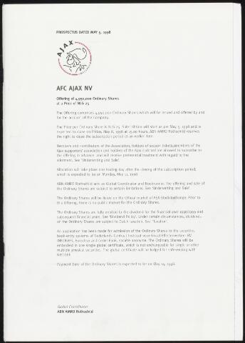 Jaarverslagen Ajax NV (vanaf 1997) 1998-05-05