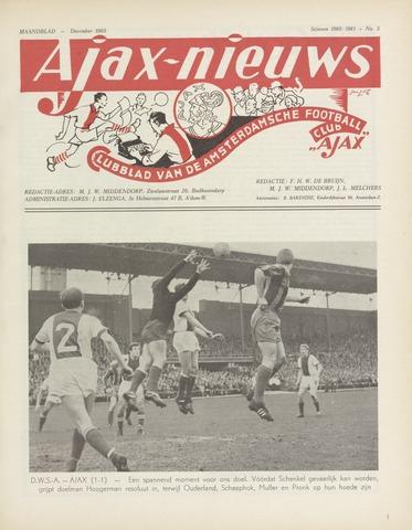 Clubnieuws Ajax (vanaf 1916) 1960-12-01