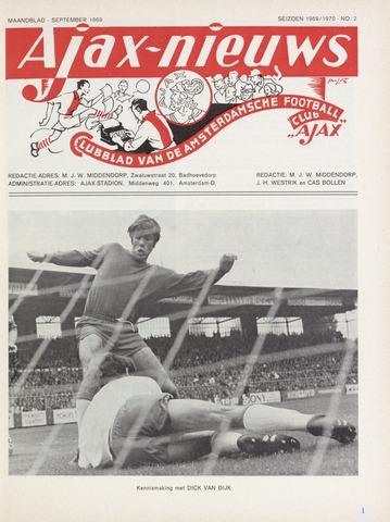Clubnieuws Ajax (vanaf 1916) 1969-09-01