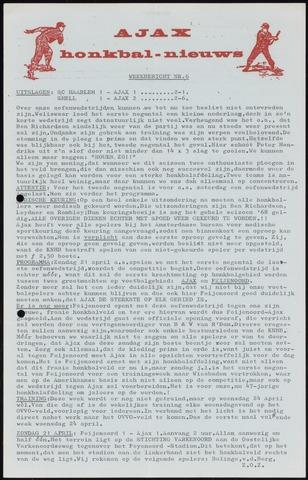 Honkbal nieuws (1963-1972) 1968-04-16