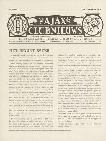 Clubnieuws Ajax (vanaf 1916) 1937-09-01