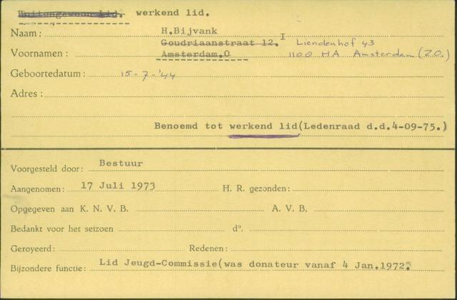 Ledenkaarten (1911-1989) 1973