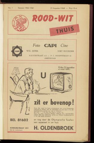 Programmaboekjes (vanaf 1934) 1960-08-21