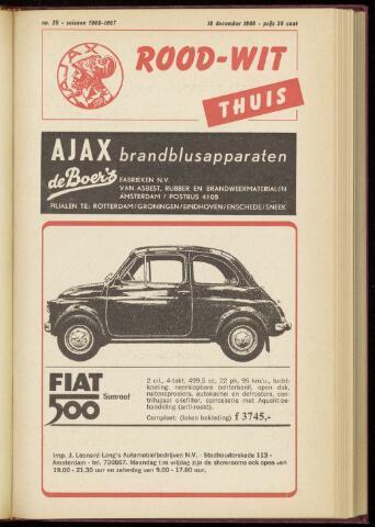 Programmaboekjes (vanaf 1934) 1966-12-18