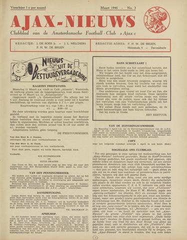 Clubnieuws Ajax (vanaf 1916) 1946-03-01