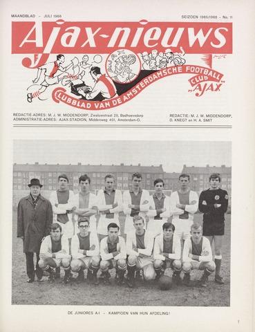 Clubnieuws Ajax (vanaf 1916) 1966-07-01