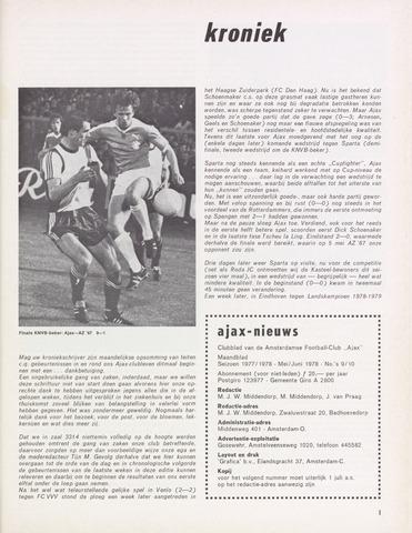 Clubnieuws Ajax (vanaf 1916) 1978-05-01