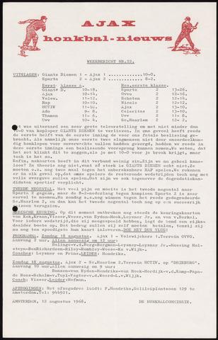 Honkbal nieuws (1963-1972) 1968-08-12