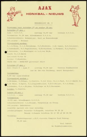Honkbal nieuws (1963-1972) 1972-05-27
