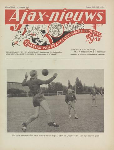 Clubnieuws Ajax (vanaf 1916) 1962-08-01