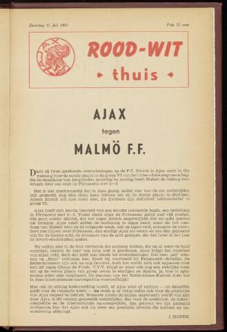 Programmaboekjes (vanaf 1934) 1961-07-15