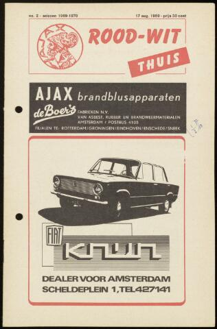 Programmaboekjes (vanaf 1934) 1969-08-17