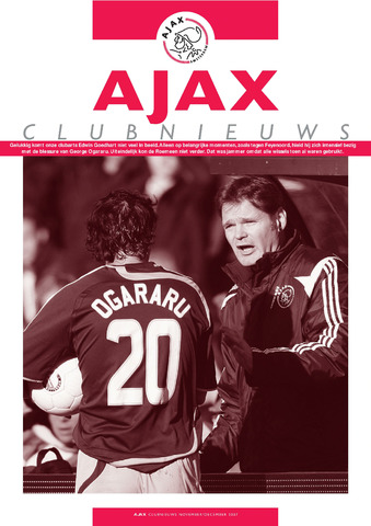 Clubnieuws Ajax (vanaf 1916) 2007-11-01