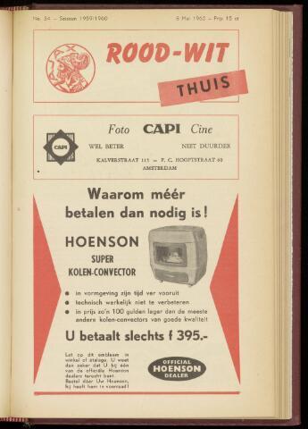 Programmaboekjes (vanaf 1934) 1960-05-08