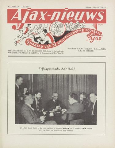 Clubnieuws Ajax (vanaf 1916) 1953-07-01