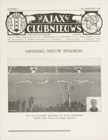 Clubnieuws Ajax (vanaf 1916) 1935-01-01