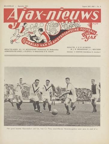 Clubnieuws Ajax (vanaf 1916) 1962-09-01
