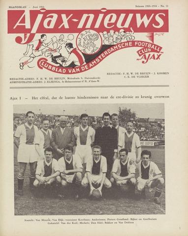 Clubnieuws Ajax (vanaf 1916) 1956-06-01