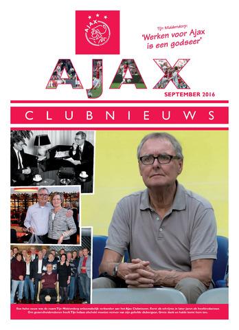 Clubnieuws Ajax (vanaf 1916) 2016-09-01