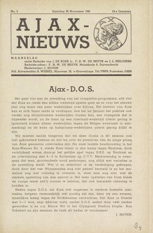 Clubnieuws Ajax (vanaf 1916) 1940-11-30