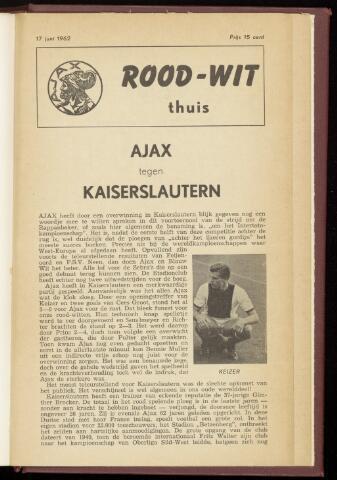 Programmaboekjes (vanaf 1934) 1962-06-17