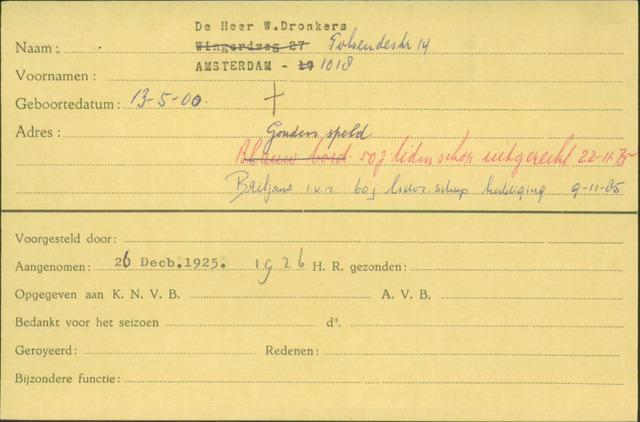 Ledenkaarten (1911-1989) 1925