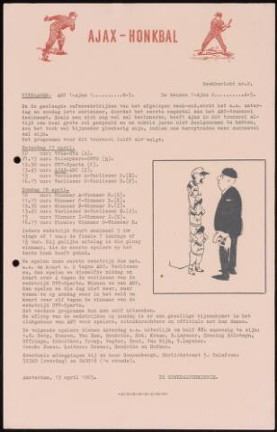 Honkbal nieuws (1963-1972) 1965-04-13