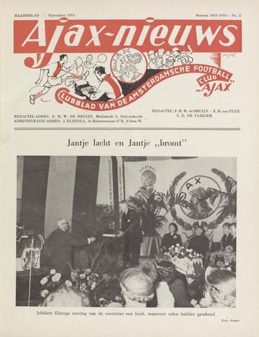 Clubnieuws Ajax (vanaf 1916) 1953-09-01