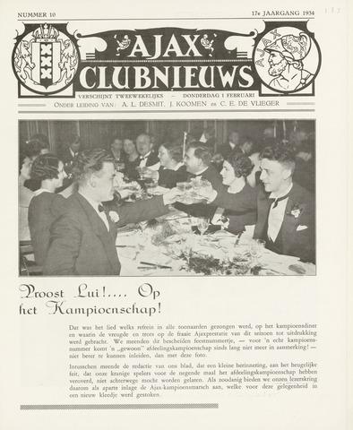 Clubnieuws Ajax (vanaf 1916) 1933-02-01