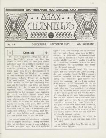 Clubnieuws Ajax (vanaf 1916) 1923-11-01