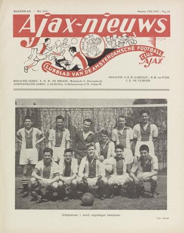 Clubnieuws Ajax (vanaf 1916) 1953-05-01