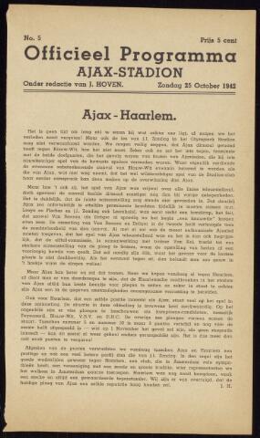Programmaboekjes (vanaf 1934) 1942-10-25