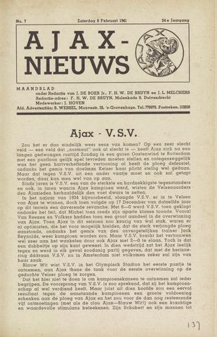Clubnieuws Ajax (vanaf 1916) 1941-02-08