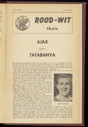 Programmaboekjes (vanaf 1934) 1962-06-24