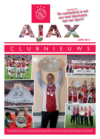 Clubnieuws Ajax (vanaf 1916) 2013-06-01