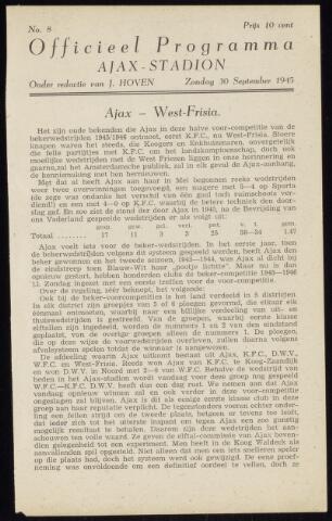 Programmaboekjes (vanaf 1934) 1945-09-30