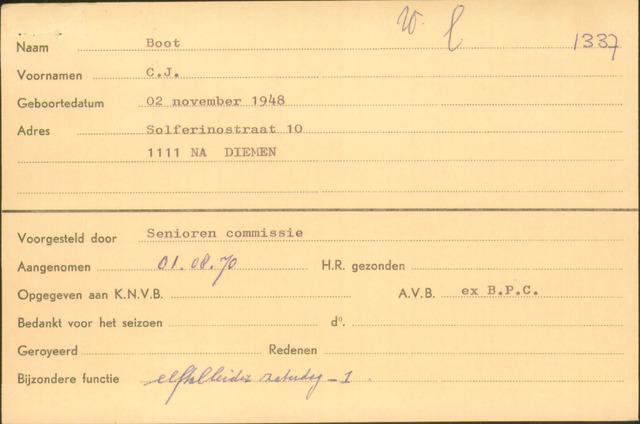 Ledenkaarten (1911-1989) 1970