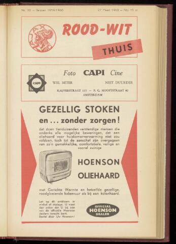 Programmaboekjes (vanaf 1934) 1960-03-27