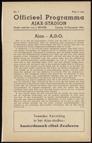 Programmaboekjes (vanaf 1934) 1941-12-14