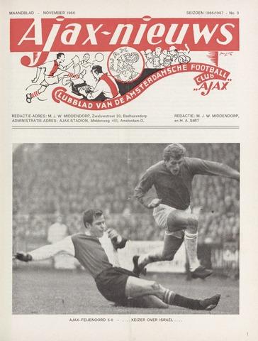 Clubnieuws Ajax (vanaf 1916) 1966-11-01