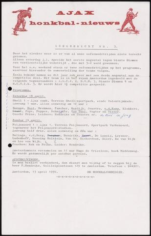 Honkbal nieuws (1963-1972) 1970-04-13