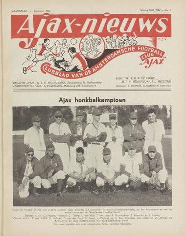 Clubnieuws Ajax (vanaf 1916) 1963-09-01