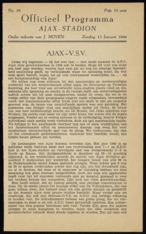 Programmaboekjes (vanaf 1934) 1946-01-13