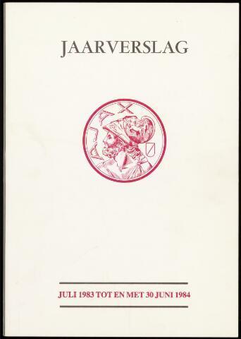 Jaarverslagen Vereniging (vanaf 1964) 1984-06-30