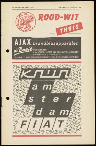 Programmaboekjes (vanaf 1934) 1970-03-25