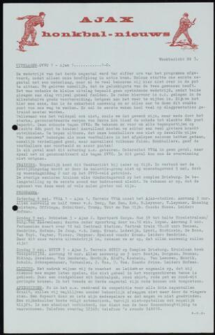 Honkbal nieuws (1963-1972) 1965-05-03