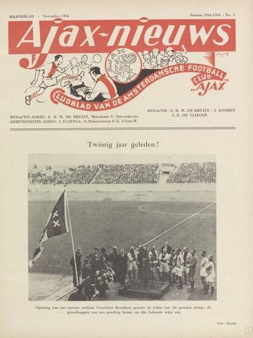 Clubnieuws Ajax (vanaf 1916) 1954-11-01