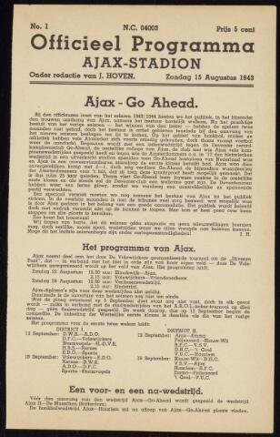Programmaboekjes (vanaf 1934) 1943-08-15